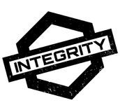 Integrity rubber stamp Stock Image