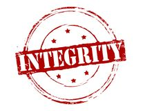 Integrity. Rubber stamp with word integrity inside,  illustration Stock Image