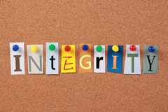 Integrity Single Word Royalty Free Stock Photos