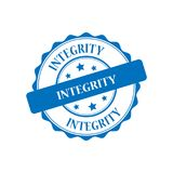 Integrity stamp illustration. Integrity stamp seal illustration design Royalty Free Stock Photography