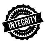 Integrity stamp rubber grunge Royalty Free Stock Image