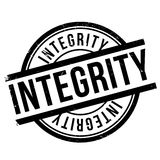Integrity stamp rubber grunge Royalty Free Stock Images