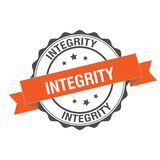 Integrity stamp illustration. Integrity stamp seal illustration design Royalty Free Stock Image