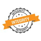 Integrity stamp illustration. Integrity stamp seal illustration design Royalty Free Stock Photo
