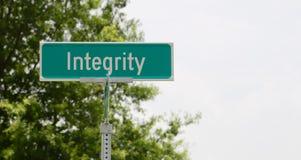Integrity Street Sign Royalty Free Stock Photos
