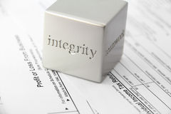 Integrity with tax preparation. Concept for honesty and integrity in tax preparation Stock Photos