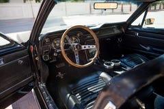 Inteior de Ford Mustang 1967 GT Foto de archivo libre de regalías