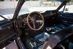 Inteior of 1967 Ford Mustang GT Royalty Free Stock Photo