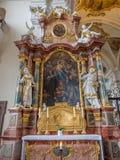 Inteiror av abbotskloster av St Peter av Schwarzwald Arkivfoto