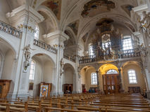 Inteiror av abbotskloster av St Peter av Schwarzwald Royaltyfria Bilder
