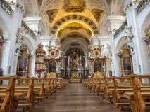 Inteiror av abbotskloster av St Peter av Schwarzwald Arkivfoton