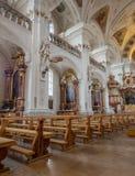 Inteiror de la abadía de San Pedro de Schwarzwald Foto de archivo libre de regalías