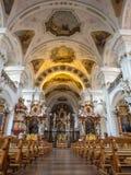 Inteiror de la abadía de San Pedro de Schwarzwald Fotografía de archivo