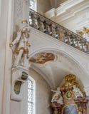 Inteiror de la abadía de San Pedro de Schwarzwald Fotos de archivo