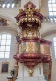 Inteiror de la abadía de San Pedro de Schwarzwald Imagenes de archivo
