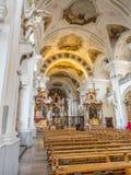 Inteiror de la abadía de San Pedro de Schwarzwald Foto de archivo
