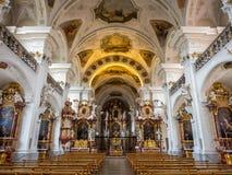 Inteiror de la abadía de San Pedro de Schwarzwald Imágenes de archivo libres de regalías
