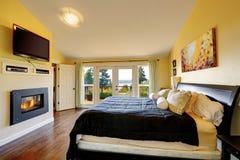 Inteiror de luxe de chambre à coucher principale Photo libre de droits