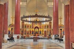 Inteiror of Saint Savva Church in Belgrade Stock Photography