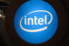 Intel  booth logo Royalty Free Stock Images