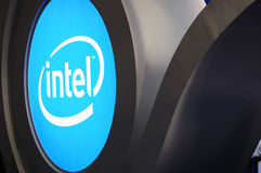 Intel  booth logo Royalty Free Stock Image
