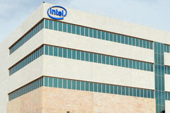 Intel Corporation. KIRYAT GAT, ISR - JAN 17:Intel microprocessor facility in Kiryat Gat Israel on Jan 17 2011.Intel is an American global technology company and Stock Image