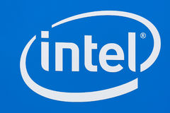 Intel Corporation logo i znak firmowy Zdjęcie Royalty Free