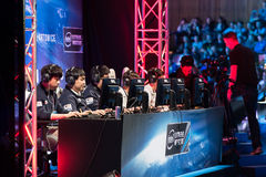 Intel Extreme Masters 2014, Katowice, Poland. KT Rolster Bullets playing the League of Legends at IEM 2014, 14th - 16th March in Katowice, Poland Stock Photos