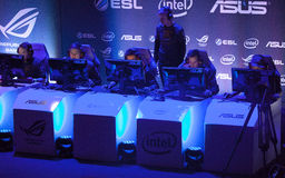 Intel Extreme Masters 2014. KATOWICE, POLAND - MARCH 16: Fnatic at Intel Extreme Masters 2014 (IEM) - Electronic Sports World Cup on March 16, 2014 in Katowice Royalty Free Stock Image