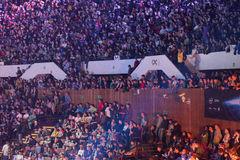 Intel Extreme Masters 2014. KATOWICE, POLAND - MARCH 16: Intel Extreme Masters 2014 (IEM) - Electronic Sports World Cup on March 16, 2014 in Katowice, Silesia Royalty Free Stock Photos