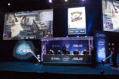 Intel Extreme Masters 2014. KATOWICE, POLAND - MARCH 16: Intel Extreme Masters 2014 (IEM) - Electronic Sports World Cup on March 16, 2014 in Katowice, Silesia Stock Images