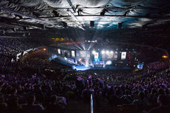 Intel Extreme Masters 2014. KATOWICE, POLAND - MARCH 16: Intel Extreme Masters 2014 (IEM) - Electronic Sports World Cup on March 16, 2014 in Katowice, Silesia Royalty Free Stock Image
