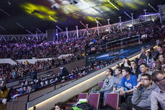Intel Extreme Masters 2014. KATOWICE, POLAND - MARCH 16: Intel Extreme Masters 2014 (IEM) - Electronic Sports World Cup on March 16, 2014 in Katowice, Silesia Stock Photography