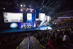 Intel Extreme Masters 2014. KATOWICE, POLAND - MARCH 16: Intel Extreme Masters 2014 (IEM) - Electronic Sports World Cup on March 16, 2014 in Katowice, Silesia Royalty Free Stock Photo