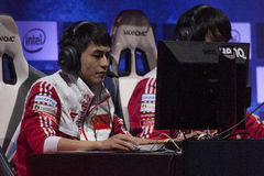 Intel Extreme Masters 2014. KATOWICE, POLAND - MARCH 16: Ke Conan Yi from World Elite at Intel Extreme Masters 2014 (IEM) - Electronic Sports World Cup on March Stock Photos