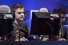 Intel Extreme Masters 2014. KATOWICE, POLAND - MARCH 16: Lauri Cyanide Happonen from Fnatic at Intel Extreme Masters 2014 (IEM) - Electronic Sports World Cup on Royalty Free Stock Photography
