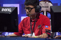 Intel Extreme Masters 2014. KATOWICE, POLAND - MARCH 16: Li Jay Chieh from AZUBU Taipei Assassins at Intel Extreme Masters 2014 (IEM) - Electronic Sports World Stock Images