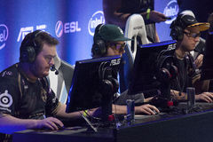 Intel Extreme Masters 2014. KATOWICE, POLAND - MARCH 16: Ninjas in Pyjamas at Intel Extreme Masters 2014 (IEM) - Electronic Sports World Cup on March 16, 2014 in Stock Photos