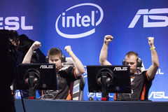 Intel Extreme Masters 2014. KATOWICE, POLAND - MARCH 16: Virtus.Pro at Intel Extreme Masters 2014 (IEM) - Electronic Sports World Cup on March 16, 2014 in Stock Photo