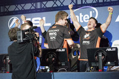 Intel Extreme Masters 2014. KATOWICE, POLAND - MARCH 16: Virtus.Pro at Intel Extreme Masters 2014 (IEM) - Electronic Sports World Cup on March 16, 2014 in Royalty Free Stock Photos