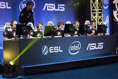 Intel Extreme Masters 2014. KATOWICE, POLAND - MARCH 16: Virtus.Pro at Intel Extreme Masters 2014 (IEM) - Electronic Sports World Cup on March 16, 2014 in Royalty Free Stock Photography