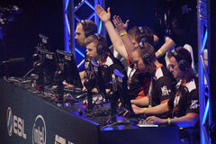 Intel Extreme Masters 2014. KATOWICE, POLAND - MARCH 16: Virtus.Pro at Intel Extreme Masters 2014 (IEM) - Electronic Sports World Cup on March 16, 2014 in Royalty Free Stock Image