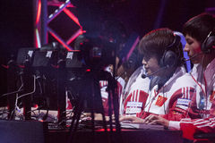 Intel Extreme Masters 2014. KATOWICE, POLAND - MARCH 16: World Elite at Intel Extreme Masters 2014 (IEM) - Electronic Sports World Cup on March 16, 2014 in Stock Images