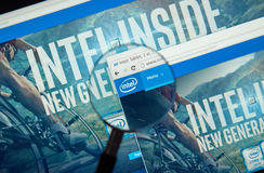 Intel internet page Royalty Free Stock Photos
