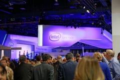 Intel-Overeenkomstcabine CES 2014 Stock Foto