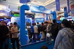 Intel se tiennent dans l'exposition 2013 de jeu d'Indo Photos stock