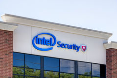 Intel Security Office Building Royalty Free Stock Photography