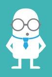 Intelectual animado da personalidade Imagem de Stock