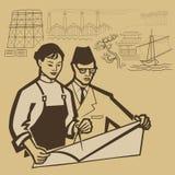 Intelectuales asiáticos ilustración del vector