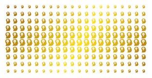 Intelekt żarówki Halftone Złoty szyk royalty ilustracja